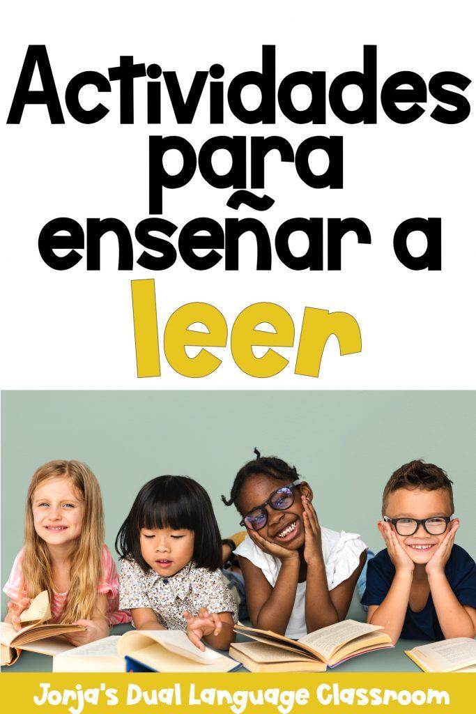 Actividades para enseñar a leer niños