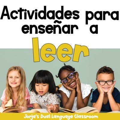 Actividades para enseñar a leer niños leyendo