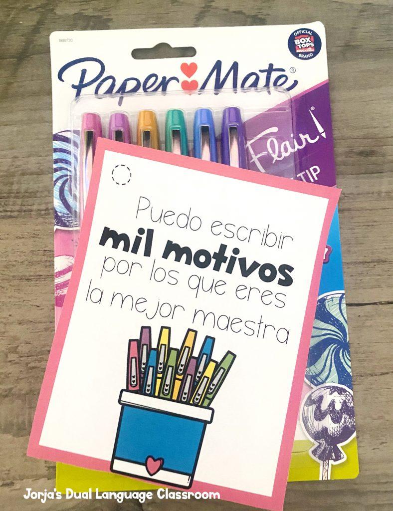 plumas ideas regalos dia del maestro