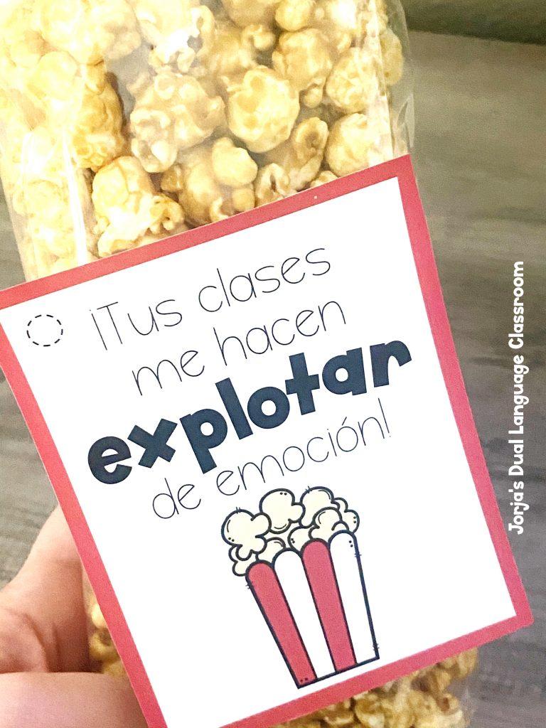 palomitas Teacher appreciation week Spanish