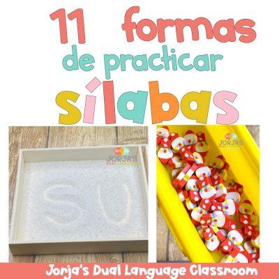 Diferentes formas de practicar sílabas en tu salón de clases